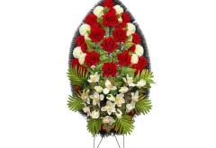 Венок большой с красной розой Р12027л